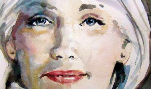 Portrait in Aquarell